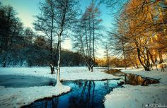 Winter Stream by Nichofsky on DeviantArt