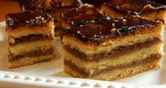 Diós zserbó - Karácsonyi sütik Hungarian Recipes, Hungarian Food, Tiramisu, Biscuits, Ethnic Recipes, Dios, Candy, Mudpie, Crack Crackers