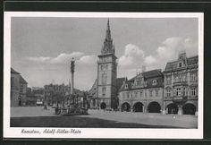 old postcard: AK Komotau / Chomutov, Adolf Hitler-Platz