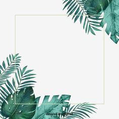 Graphic Wallpaper, Gold Wallpaper, Leaf Border, Floral Border, Flower Frame, Flower Art, Clipart Photo, Wedding Borders, Green River