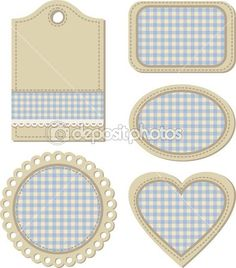 Tags, vintage design elements for scrapbook, vector illustration — Stock Image #12755389