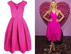 Candice Swanepoel's Antonio Berardi Silk-Organza Dress | Red ...