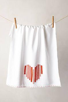 Ribbon Heart Dishtowel - anthropologie.com