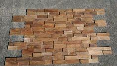 Rustic teak hardwood panels. Stunning.