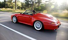Beautiful Guards Red Porsche 993 wide-body Speedster. #everyday993 #Porsche