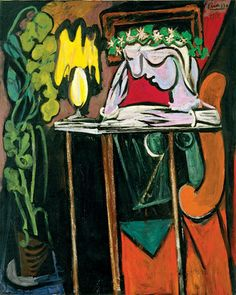 """Woman Reading at the Table""  Pablo Picasso (1881-1973)"
