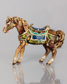 H7KAB Jay Strongwater Abbey Horse Figurine...inspiration