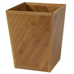 Creative Bath Products Spa Bamboo Waste Basket