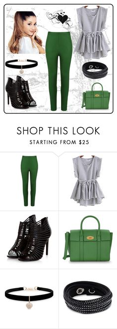 """""""Green Bag"""" by dinaa45 ❤ liked on Polyvore featuring Andrea Marques, Mulberry, Betsey Johnson, Swarovski, GREEN, bag and women"""