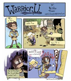 Warrior U is another fun little webcomic that I keep up with. It's got some pretty funny moments with one character that I particularly love--Hevvin.<3