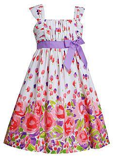 Bonnie Jean® Poplin Floral Dress Girls 4-6x