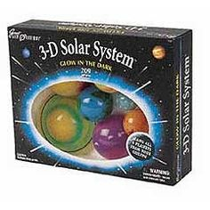 Hang 8 planets & Pluto from your ceiling--GLOW in the Dark 3D Solar System Model! Ships FREE to New England, NJ, NY & PA!
