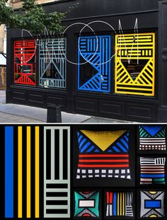'Tribalala' Window installation and product collaboration for super cool London store Darkroom, by Camille Walala.
