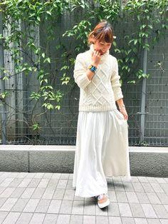 ビームス 銀座 | mitsukoさんのニット/セーター「BEAMS LIGHTS Women's BEAMS LIGHTS / タートルケーブルプルオーバー」を使ったコーディネート