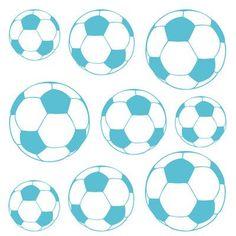The Decal Guru Soccer Balls Wall Decal