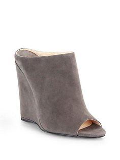 cd63712302a6b Gucci Liliane Suede Cork Stud Horsebit Wedge Sandals New NIB Size 8 ...