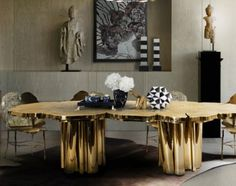 In the exclusive world of luxury dining design, let´s check out 15 of the luxurious italian dining tables you need to see. Luxury Dining Tables, Luxury Dining Room, Square Dining Tables, Wooden Dining Tables, Dining Room Design, Dining Rooms, Dining Area, Small Dining, Tables Étroites