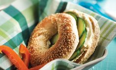 Cucumber and maple bagels: Whisk the cream cheese and maple syrup together to make maple cheese! Bagels, Recipe Of The Day, Cucumber, Brunch, Bread, Meals, Breakfast, Food, Maple Syrup