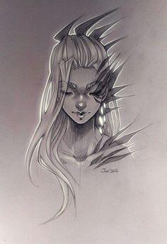 Girl. Sketch by sashajoe on DeviantArt