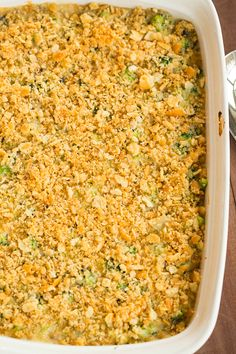 Broccoli Casserole (From Scratch!) on @Michelle Flynn (Brown Eyed Baker) :: www.browneyedbaker.com