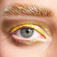 Dior spring 2014 gold eyebrows