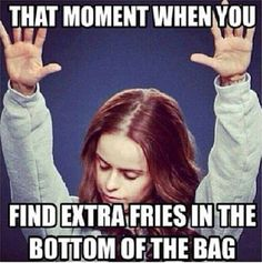or when u see the cheese that is on your hands when u finished the bag of cheese curls