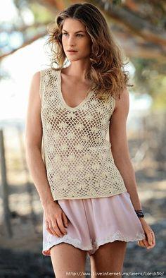 Crochetemoda: Top de Crochet