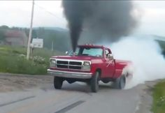 HUGE 1st Gen Cummins Burnout!