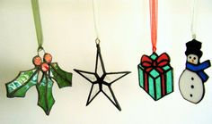 Stained Glass Star Christmas Decoration by CrispinGlass on Etsy