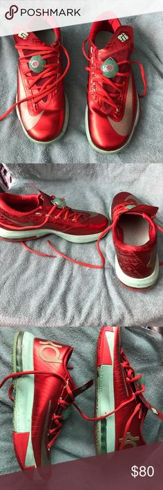 Nike KD VI Christmas Nike KD VI Christmas Light Lite Crimson/gold/green Nike Shoes Sneakers