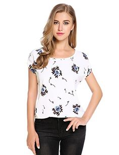 Special Offer: $16.54 amazon.com Specifications:Please check your measurements to make sure the item fits before ordering. 1. Use similar clothing to compare with the size. M— –Bust:42.1″—Hem 39.0″—–Length 22.6″— Shoulder Width...
