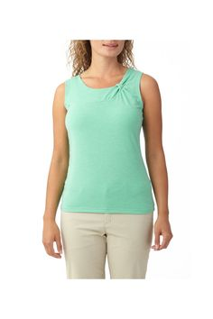 Women's tank with twist detail at neck