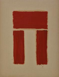 Ralph Coburn; Carnac Stone Series, 1949 Oil on paper