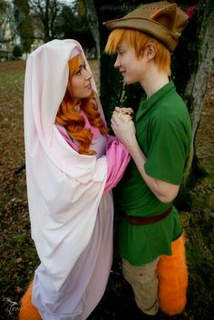 Robin Hood and Maid Marain (Disney Cartoon Version)