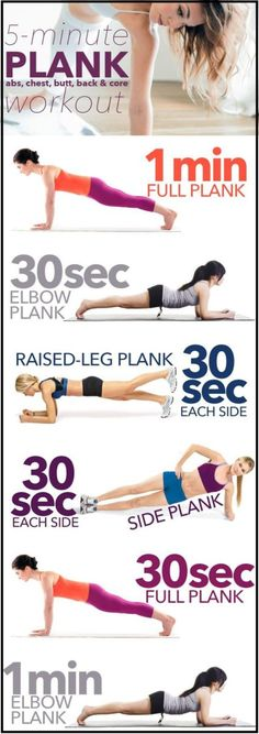 5 Minute Plank Workout For a Strong Core