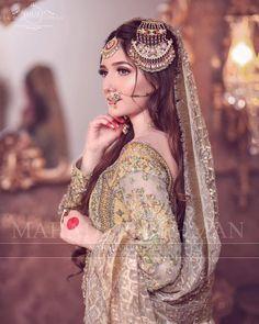 Pakistani Bridal Makeup, Pakistani Fashion Party Wear, Bridal Mehndi Dresses, Pakistani Wedding Outfits, Bridal Dress Design, Nikkah Dress, Beautiful Pakistani Dresses, Pakistan Bridal, Stylish Dresses For Girls