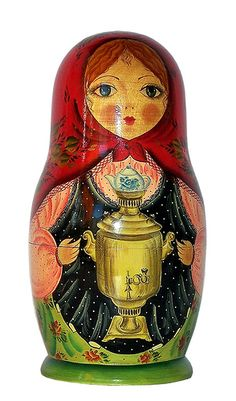 The Holiday Aisle Fifer 5 Piece Cinderella Nested Doll Set Matryoshka Doll, Kokeshi Dolls, Tiki Head, Art Village, Hanging Banner, Christmas Decorations For The Home, Folk, Santas Workshop, Christmas Deer