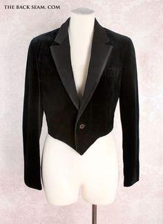 1940s Men's Vintage Black Velvet Formal Dinner Jacket
