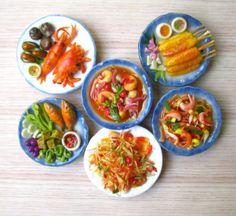 Miniature-Thai-Food-3DHandcraft-Fridge-Magnet-Ceramic-Clay-Combination-gift
