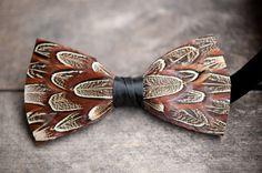 Pheasant Feather Bow Tie - Phunky Pheasant