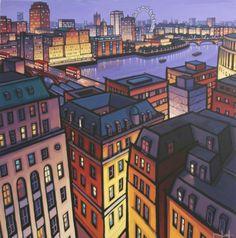 Other Paintings - Jim Edwards Unique Buildings, City Buildings, Landscape Art, Landscape Paintings, Norwich School, Professional Painters, Building Art, City Scene, River Thames
