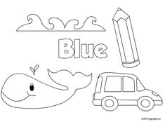 BLUE Color Activity Sheet -Repinned by Totetude.com | Coloring Pages ...
