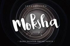 Moksha - Hand Painted Brush Font by Micromove on @creativemarket