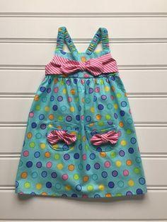 Polka Dot Dress for Girl, Toddler Dress, Girl Yellow Summer Dress ...