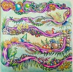 Johanna Basford Enchanted Coloring Books Adult Art Ideas Colour Colored Pencil Tutorial Prismacolor Pencils