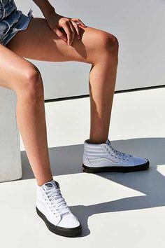 9ff98affa8 Vans Black Sole Canvas Sk8-Hi Sneaker Black High Top Sneakers