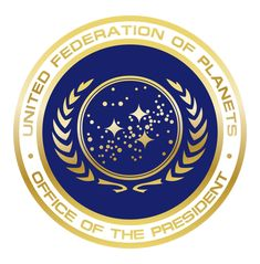 Star Trek: United Federation of Planets - Office of the President Star Trek Crew, Star Trek Logo, Star Wars, Presidential Seal, United Federation Of Planets, Star Trek Series, Star Trek Universe, Star Trek Enterprise, Geek Out