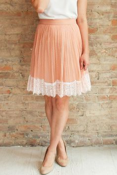 Cameo Tulle Skirt - blush #affordable-clothing #affordable-fashion #Blush-skirt #lace-detail