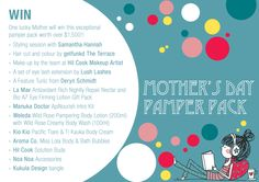 GIVEAWAY! WIN Mother's Day Pamper Pack. Such an awesome prize pack!!