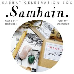 SAMHAIN Sabbat Box Kit Halloween Witch Celebration subscription uk witchy gift mystery guide vegan festival ships 19th October Celebration Box, Halloween Celebration, Sabbats, Halloween Signs, Winter Solstice, Subscription Boxes, Samhain, Yule, Vintage Items